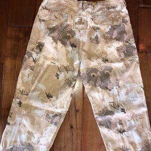 danang Pants - DaNang stone camo silk blend pant